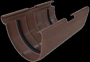 Муфта желоба с резиновыми уплотнителями