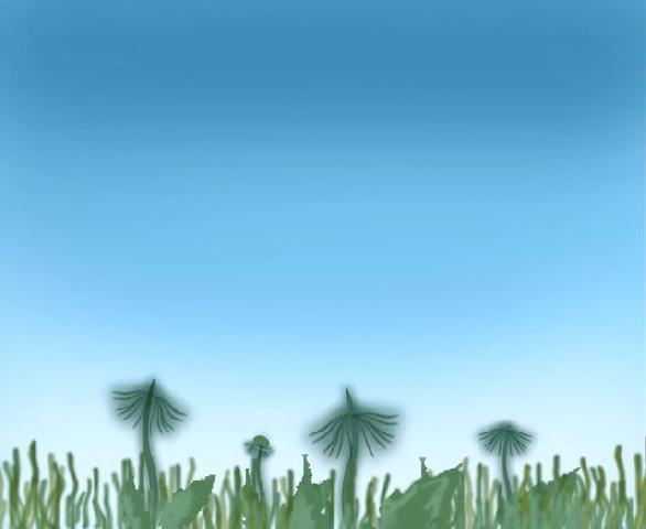 Стебельки одуванчиков и трава готовы