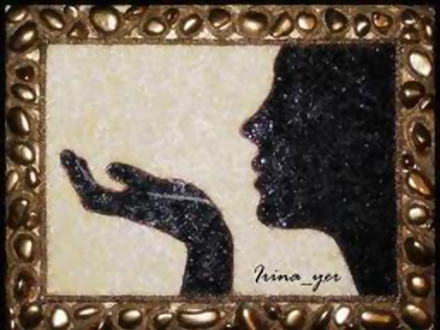 Картины своими руками из бисера на клею