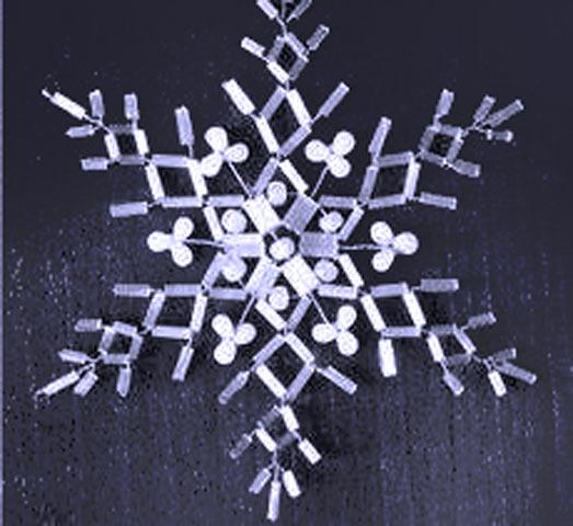 Готовая снежинка