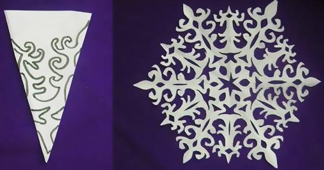 Схема для ажурних сніжинок