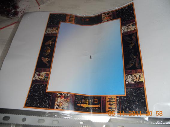 Эскиз оформления зеркала для ванной комнаты