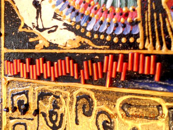 Бисерные полоски вокруг рисунка