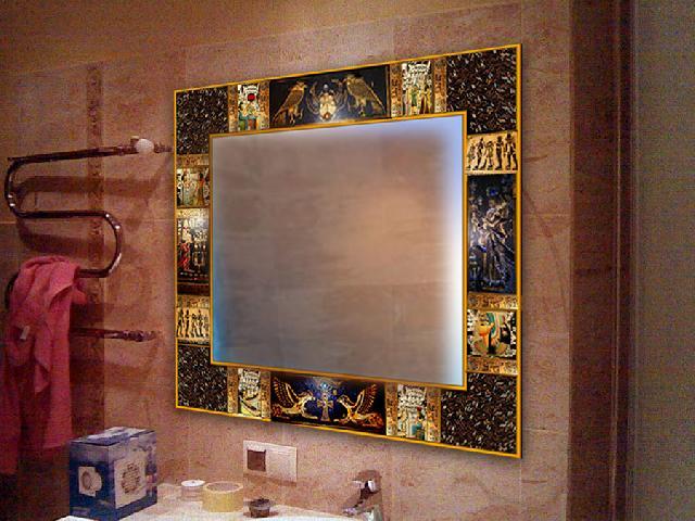 Зеркало для ванной на своем месте