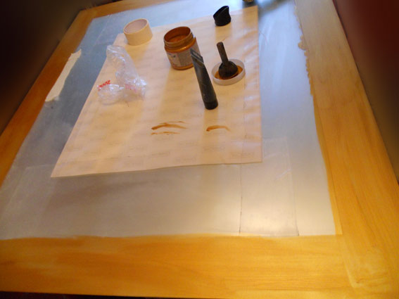 Подогретая теплим повітрям акрилова фарба висихає за лічені мінути