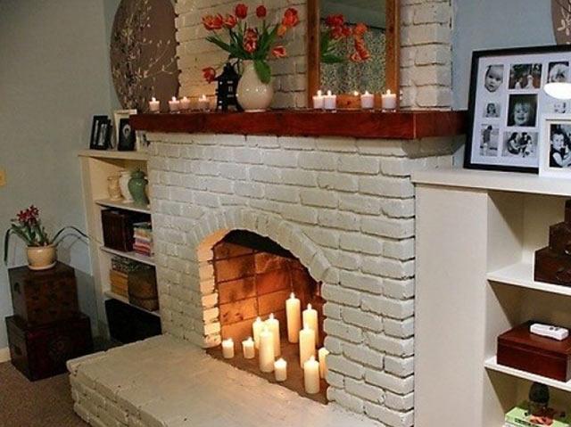 Декоративные камины для квартиры своими руками фото 249