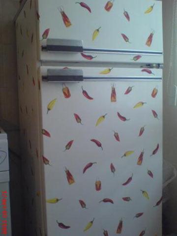 Декупаж на холодильнику