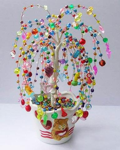 Ива из бисера Дерево любви