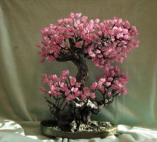 Деревья из бисера — мастер