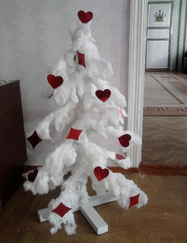 Новогодние игрушки из перьев