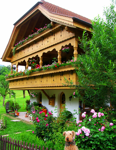 Балкон в шале