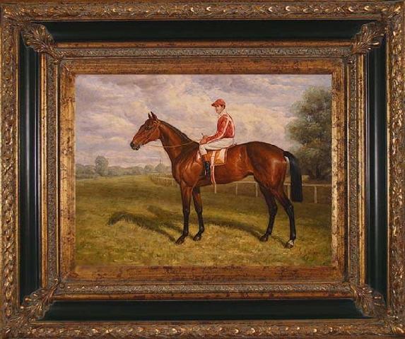 В Англии XIX века особенно популярными были спортивна и охотничья тематика