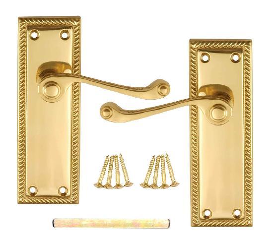 Дверные ручки в георгианском стиле послужат прекрасным декоративным элементом в кабинете