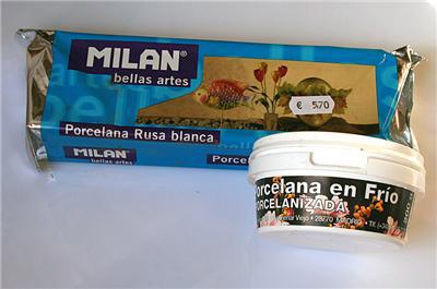 Холодный фарфор от «MILAN». В брикете 500 гр., в коробке — 200. Стоимость одинакова, качество очень хорошее