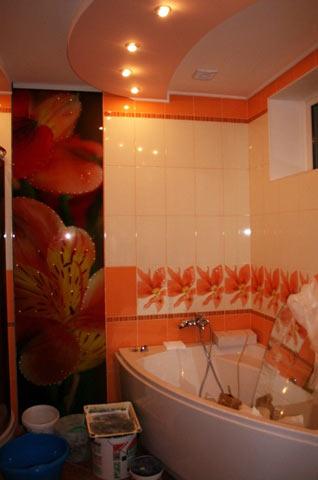 Фотопанель у ванні