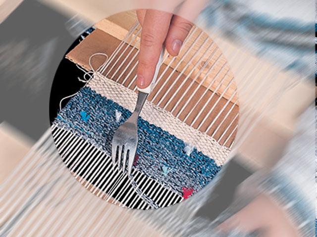 Ущільнюємо тканину за допомогою вилки