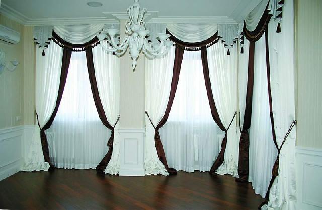 Типичный пример штор в классическом стиле