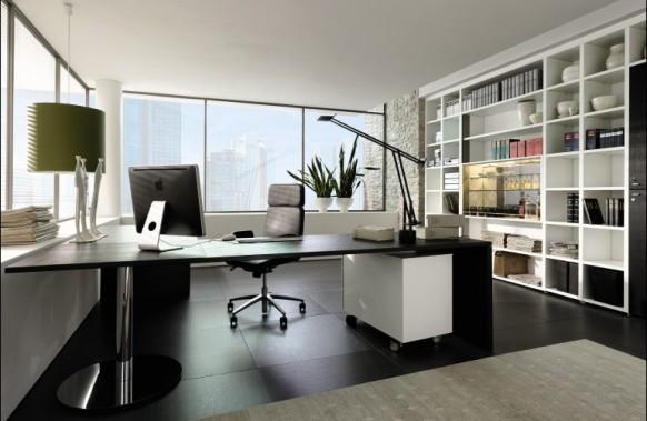 Разрабатывая дизайн кабинета в квартире, нужно позаботиться о его естественном освещении