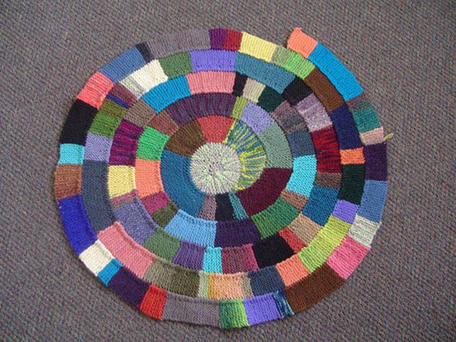 Вязание коврика своими руками