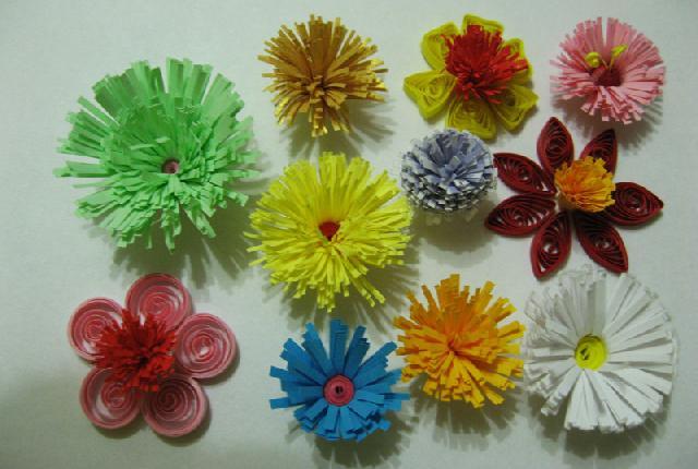 Фото 8. Весенние цветы объемный квиллинг