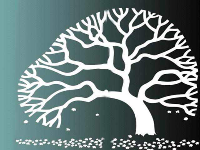 Дерево на склі