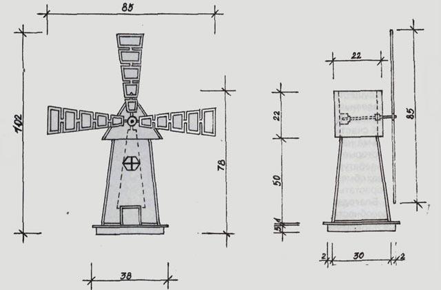 Чертеж для построения простой мельнички