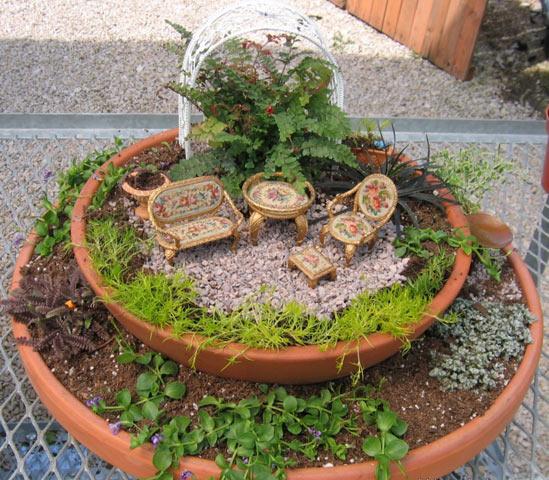 Сад в горшке для цветов