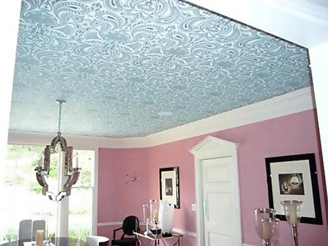 Вариант расписного потолка