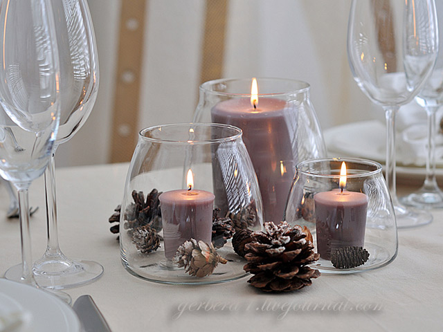 Hand-made композиція зі свічками