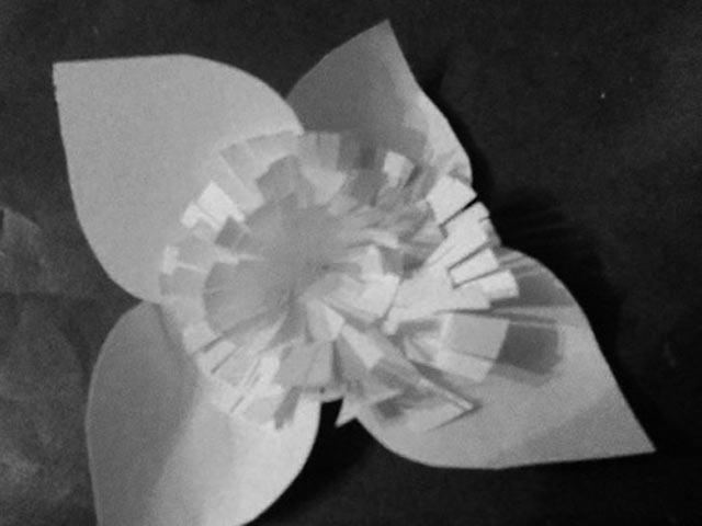 Форма готового цветка