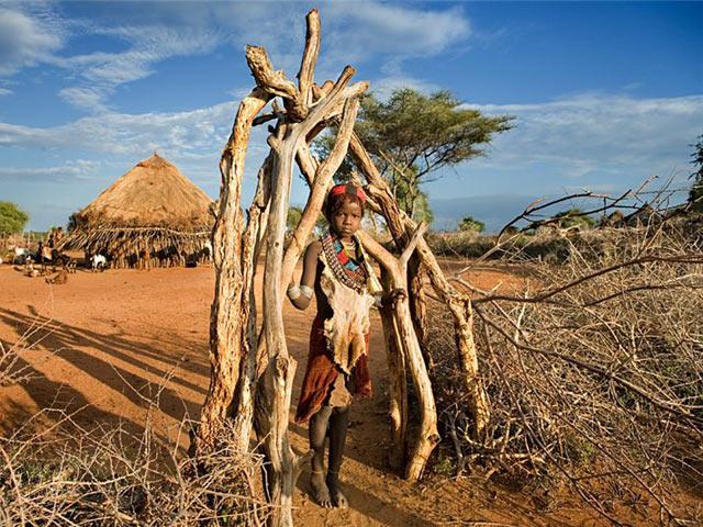 Забор в африканской деревне