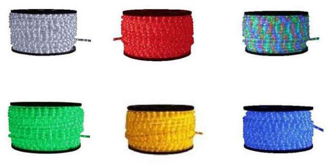 Різнокольоровий шнур-дюралайт