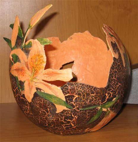 Декоративная ваза из папье-маше
