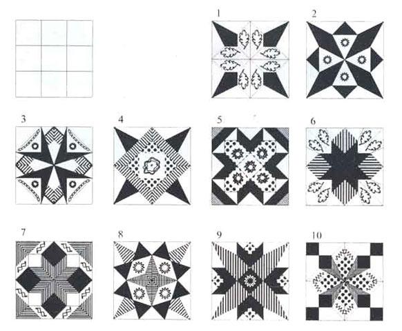 Схемы сложных орнаментов