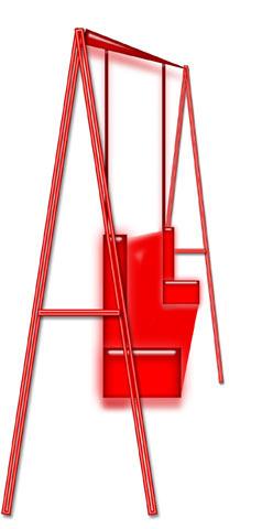 Схема качелей по типу буквы «А»