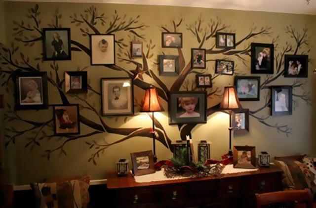 Интерьерный вариант семейного дерева