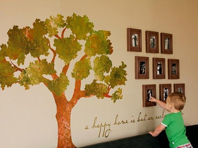 Отдельно дерево и фото