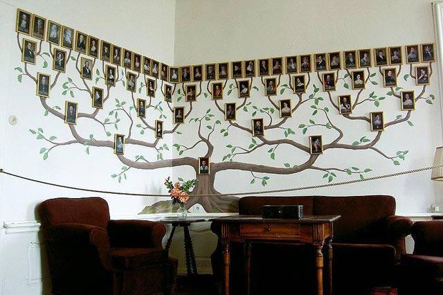 Семейное древо — как украшение интерьера