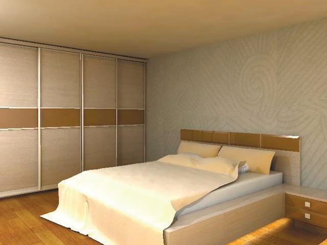 Скло в спальні