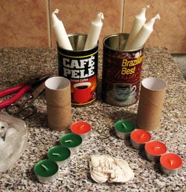 Матеріали і інструменти для свічок своїми руками