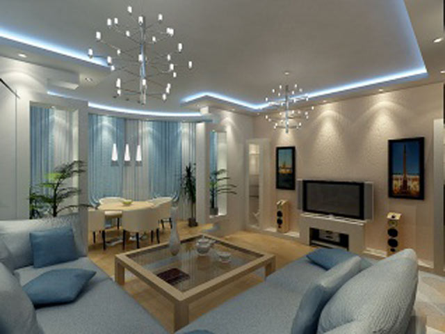 Свет в гостиной комнате