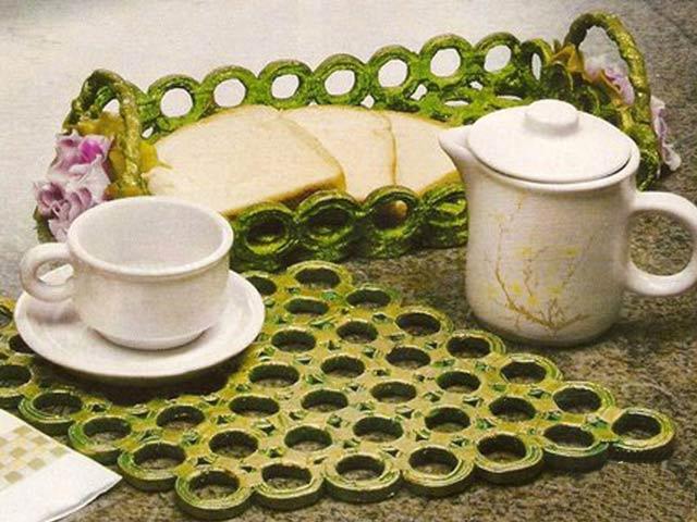 Поднос в технике «кольчужного плетения» из бумаги