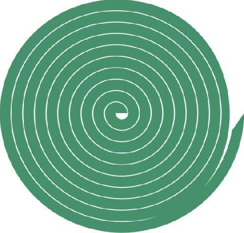 Готовая спираль из газет