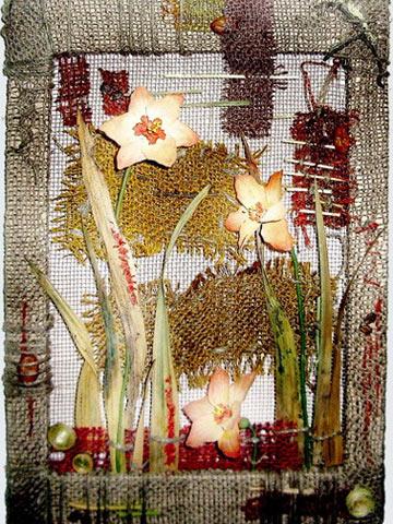 Панно с цветочными мотивами