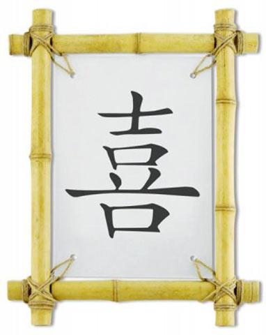 Ієрогліфи «щастя» і «гроші»