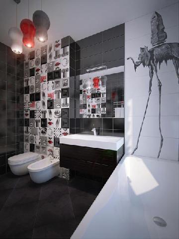 Цвета керамической плитки должны гармонично смотреться на стенах