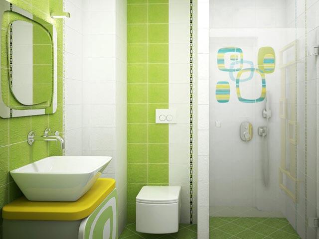 С помощью светлой и темной керамической плитки можно увеличить визуально пространство, скрыть неровности стен