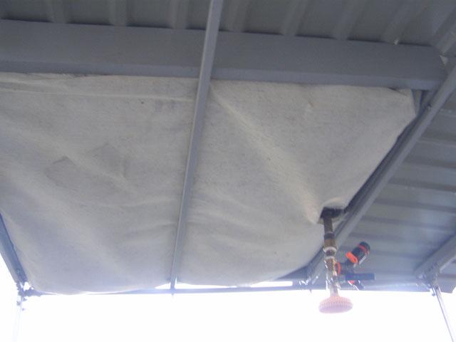 Теплоизоляция бака из пенопласта и геотекстиля
