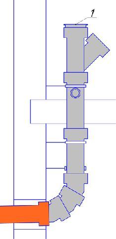 Верх канализационного стояка должен оканчиваться крышкой-прочисткой