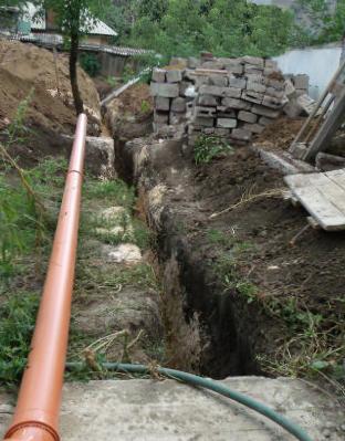 Перед укладкой трубопровода удобно его секции собирать предварительно